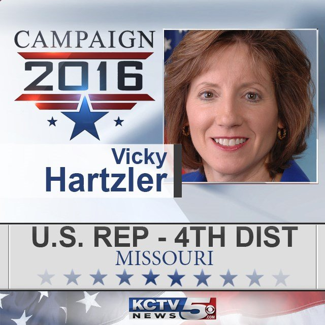 Republican VickyHartzlerhas won re-election to a fourth term in Congress for Missouri's 4th District. (KCTV5)