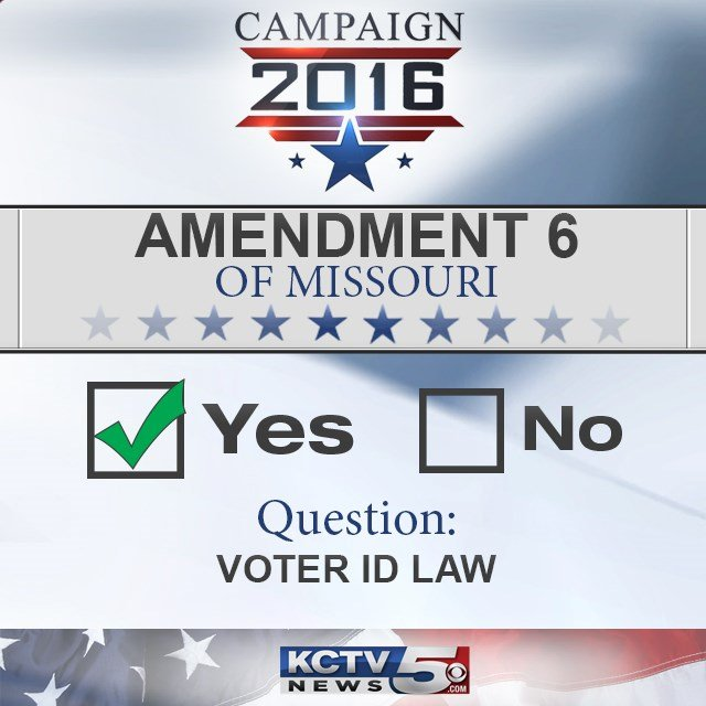 Missourivoters have approved amending the state Constitution to allow lawmakers to add voter-identification requirements at the ballot box. (KCTV5)