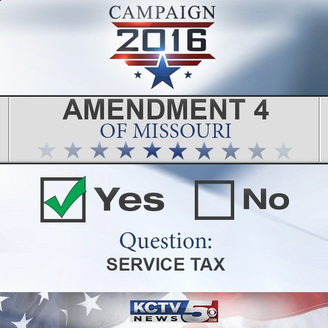 Missouri voters have approved a ballot measure that called for barring sales taxes on services that weren't taxed as of last year. (KCTV5)