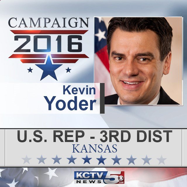 Republican incumbent Kevin Yoder has won re-election in the 3rd District inKansasand dashed the best hopes Democrats had for winning a congressional race this year. (KCTV5)