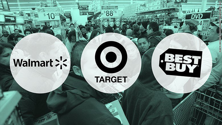 Walmart, Target and Best Buy have rolled out their Black Friday plans. (CNN)
