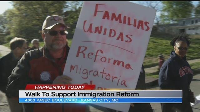 The group says it is hoping to show that immigrant families want to come here and be a part of the community. (KCTV)