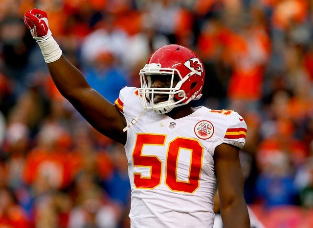 Linebacker Justin Houston will have to wait at least another week before making his season debut for the Kansas City Chiefs after he was ruled out for Sunday's game at Carolina. (AP)
