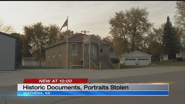 A veteran discovered the break-in while collecting flags to decorate a cemetery on Veteran's Day. (KCTV)