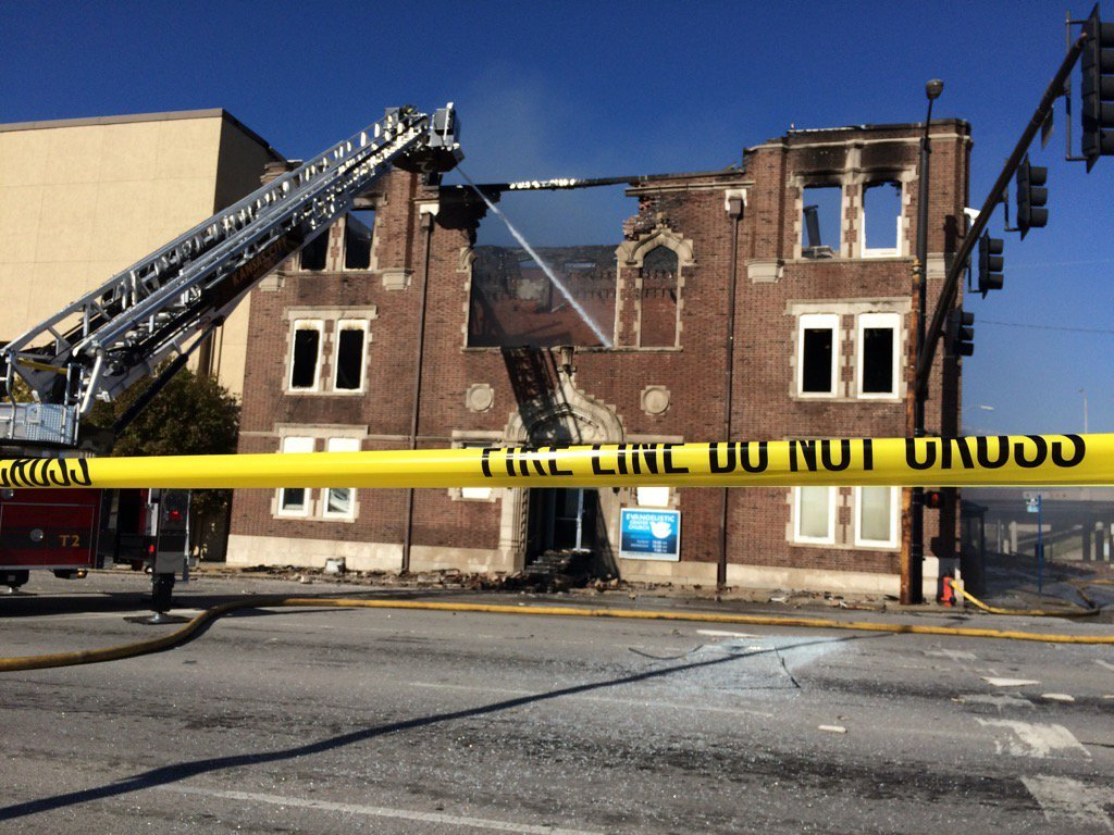 The church is now all but destroyed. (Natalie Davis/KCTV)