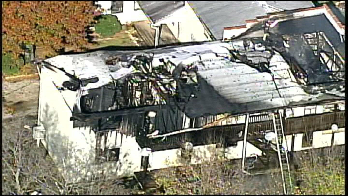 Six of the apartment complexes sustained significant damage.(Chopper5)