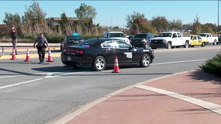 One person was shot Tuesday at the Will Rogers World Airport in Oklahoma, according to a tweet from the Oklahoma City Police Department. (Oklahoma City Police Department)