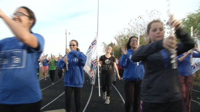 The band has prepared for months, and students are excited about the once-in-a-lifetime opportunity. (Natalie Davis/KCTV5 News)