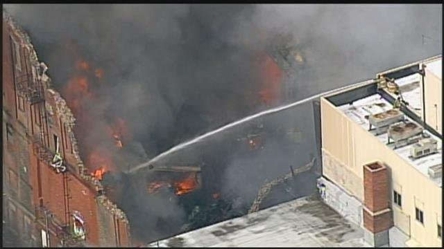 A massive amount of black smoke is billowing in the skies of St. Joseph after a fire. (Chopper5)