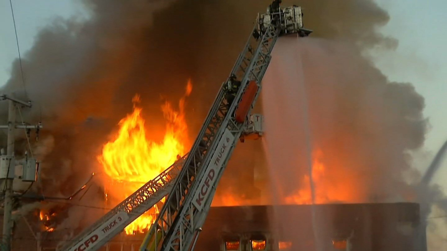 The Evangelistic Center Church at Truman and Troost was destroyed by flames just two weeks ago.(KCTV5)