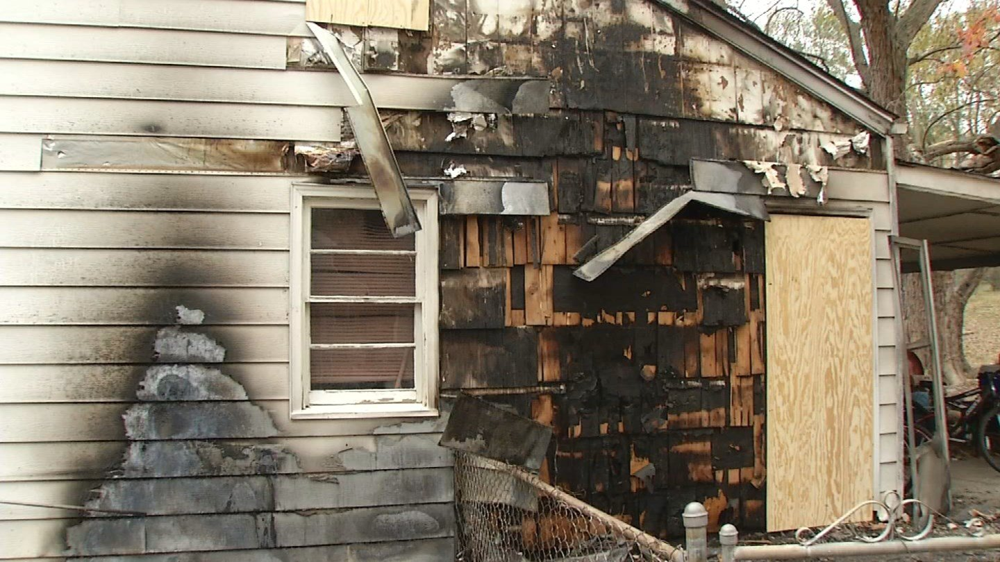 Days after a Harrisonville police officer's house went up in flames, the fire is being investigated as arson. (KCTV5)
