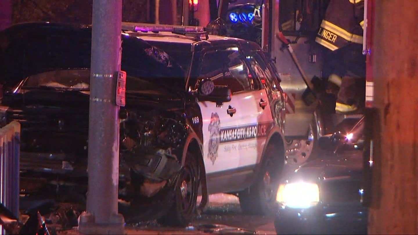 Four suspects have been arrested after a driver attempted to hit a Kansas City, KS police officer. (KCTV5)