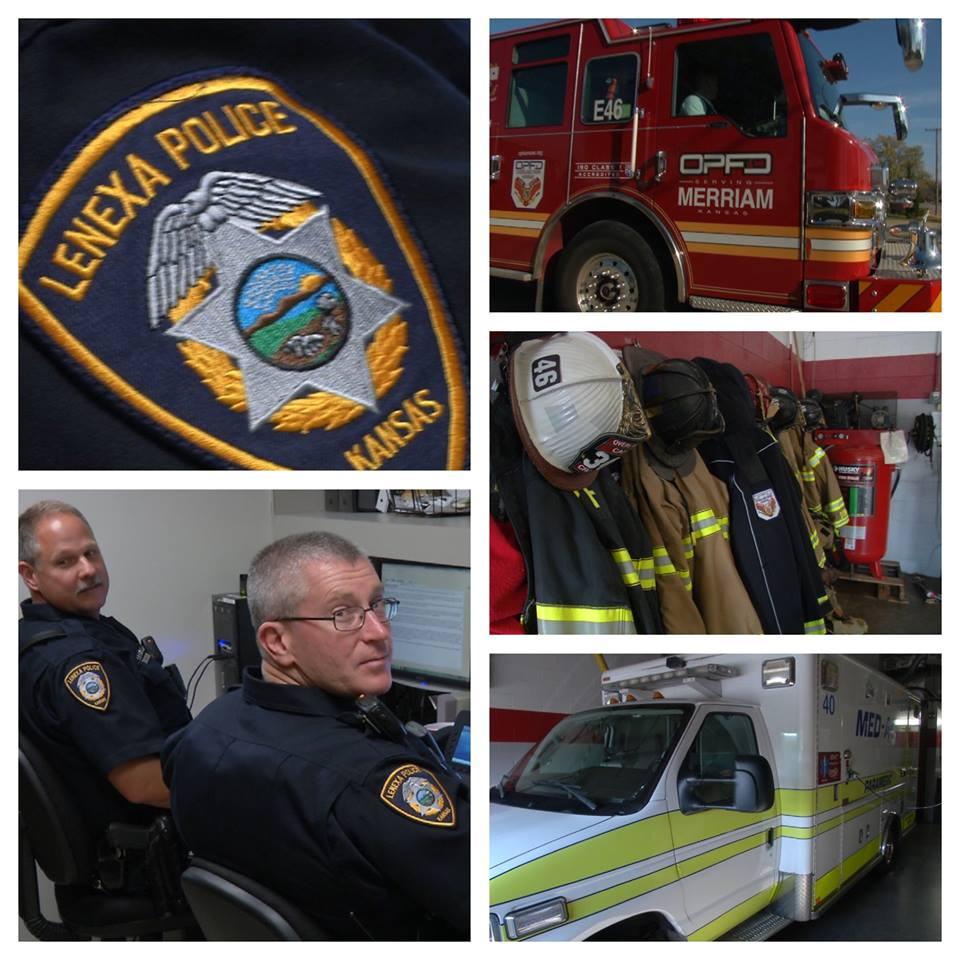 First responders were working hard on Thanksgiving to keep their communities safe. (Natalie Davis/KCTV)