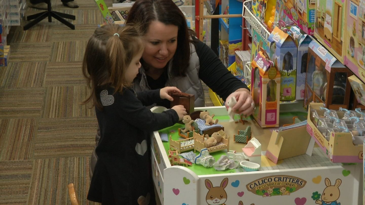 Shoppers at Brookside Toy and Science were enjoying their Small Business Saturday there and at other businesses. (Natalie Davis/ KCTV)