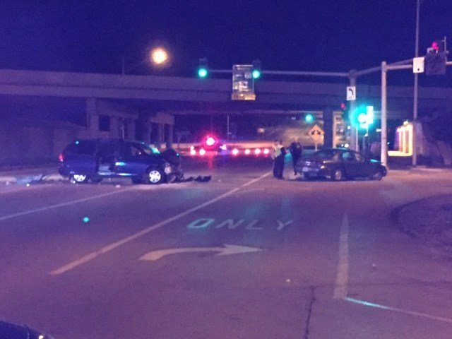 A police chase ended with a crash in Platte County. (Dwain Crispell/KCTV5)