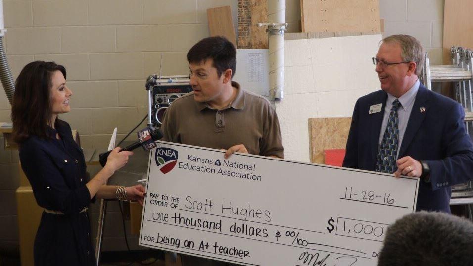 Scott Hughes is the recent winner of KCTV5's Read to Achieve program. (Turner USD #202 via Twitter)