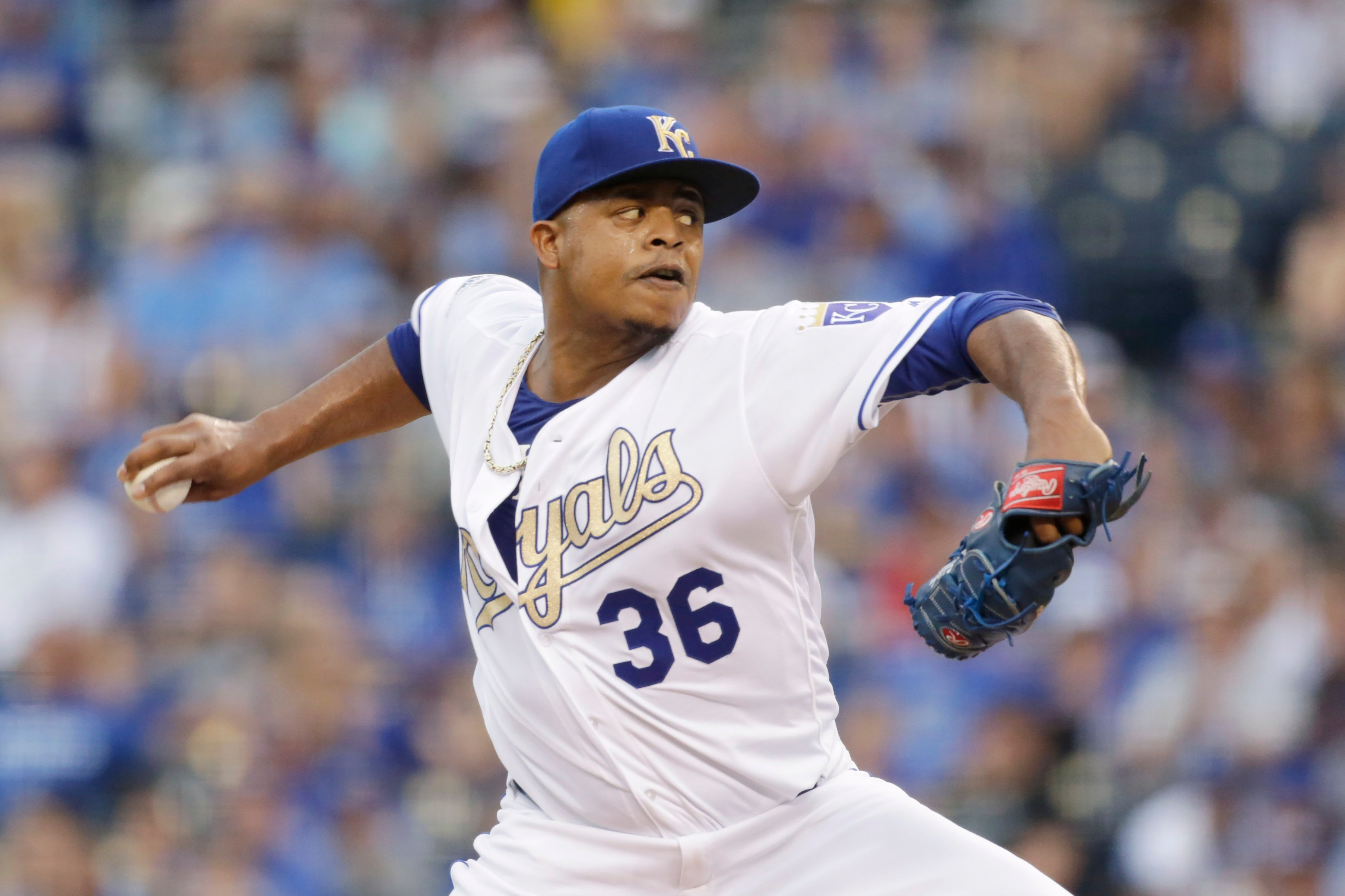 In two seasons with the Royals, Volquez was 23-20 with an ERA of 4.43. (AP)