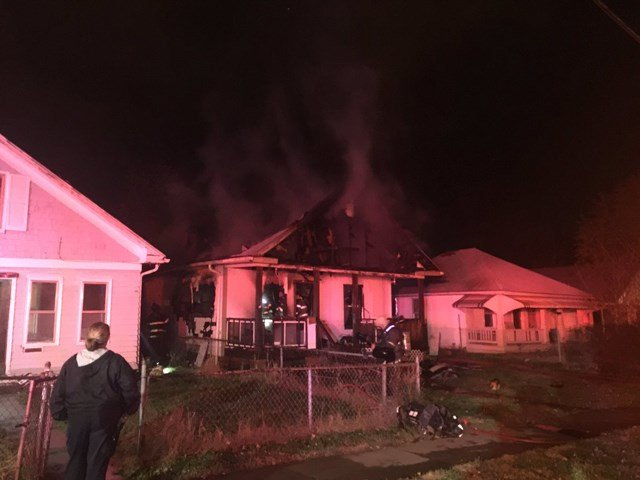 Fire crews responded to a call of a fully-involved house fire and had the fire under control by 5:46 a.m. (KCTV5/Nate-Nottage Tacey)