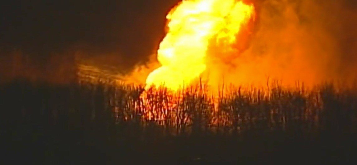 A large fire has been reported just north of Kansas City International Airport and west of Smithville. (KCTV5)