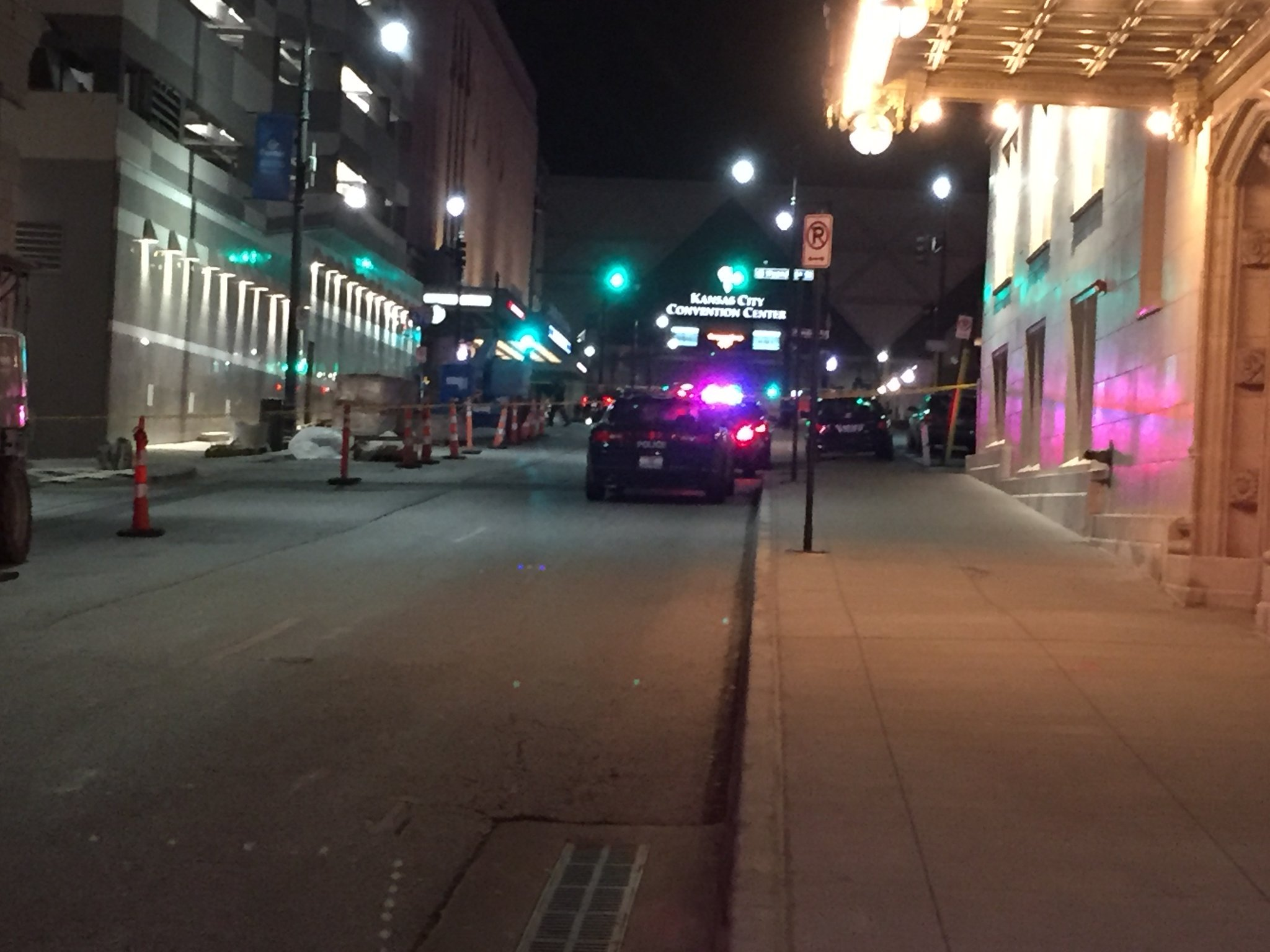 One person suffered non-life threatening injuries following a shooting outside of the Crowne Plaza. (KCTV5)