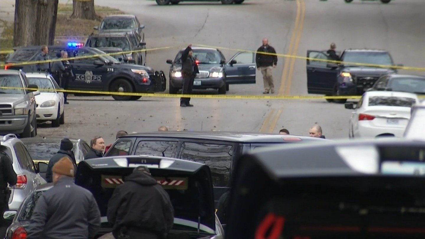 A robbery suspect was shot and killed by Kansas City police on Wednesday and hours later, ten arrests were made after during and after a standoff.(KCTV5)