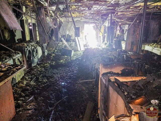 Here is what the inside of Clark's Appliances looked like after the fire. (Raytown Fire Protection District)