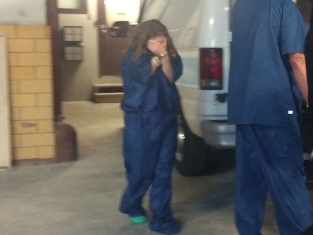Kimberly Anderson before a court appearance. (KCTV5)