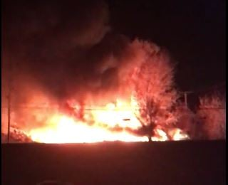 File photo taken while the business in Grandview was on fire. (Submitted to KCTV5)