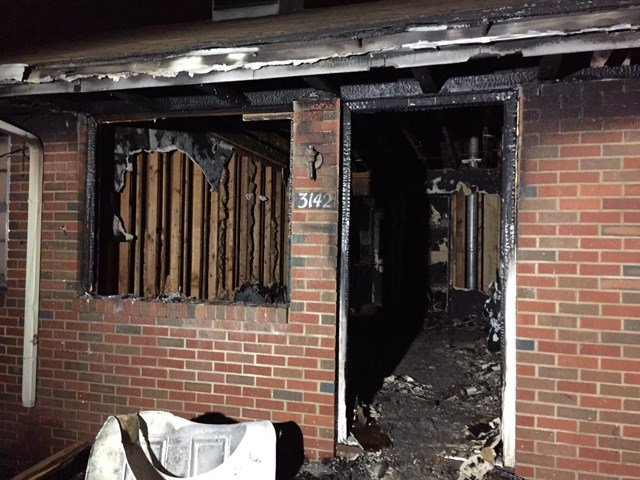 Damage to the inside of the unit was extensiveand completely charred items inside. (KCTV5)