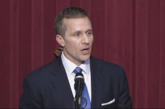 A bipartisan group of six Missouri state senators is calling for a legislative investigation of Republican Gov. Eric Greitens. (File photo)