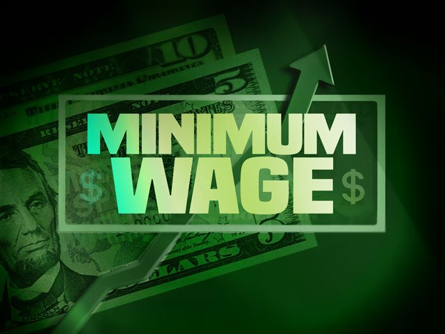 Under the proposal, those companies would be required to implement a $10 minimum wage to their workers or provide equivalent benefits. (AP)