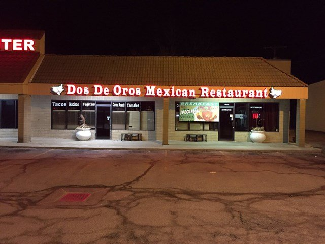 Dos De Oros Mexican restaurant is just one of the many businesses closed for business Thursday.  (KCTV5)