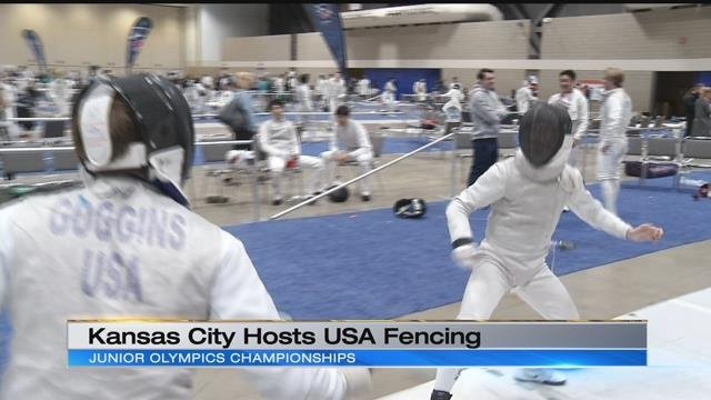 It's not every day the USA Fencing Junior Olympics National Championship is in Kansas City so KCTV5 Sports found out more about the sport and learned a few things from those competing. (KCTV5)