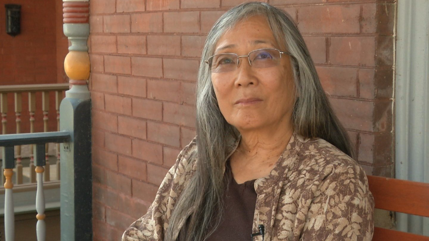 """It is very scary to me that the government keeps reverting back to such prejudicial times,"" Laurie Yasui said. (Natalie Davis/KCTV)"