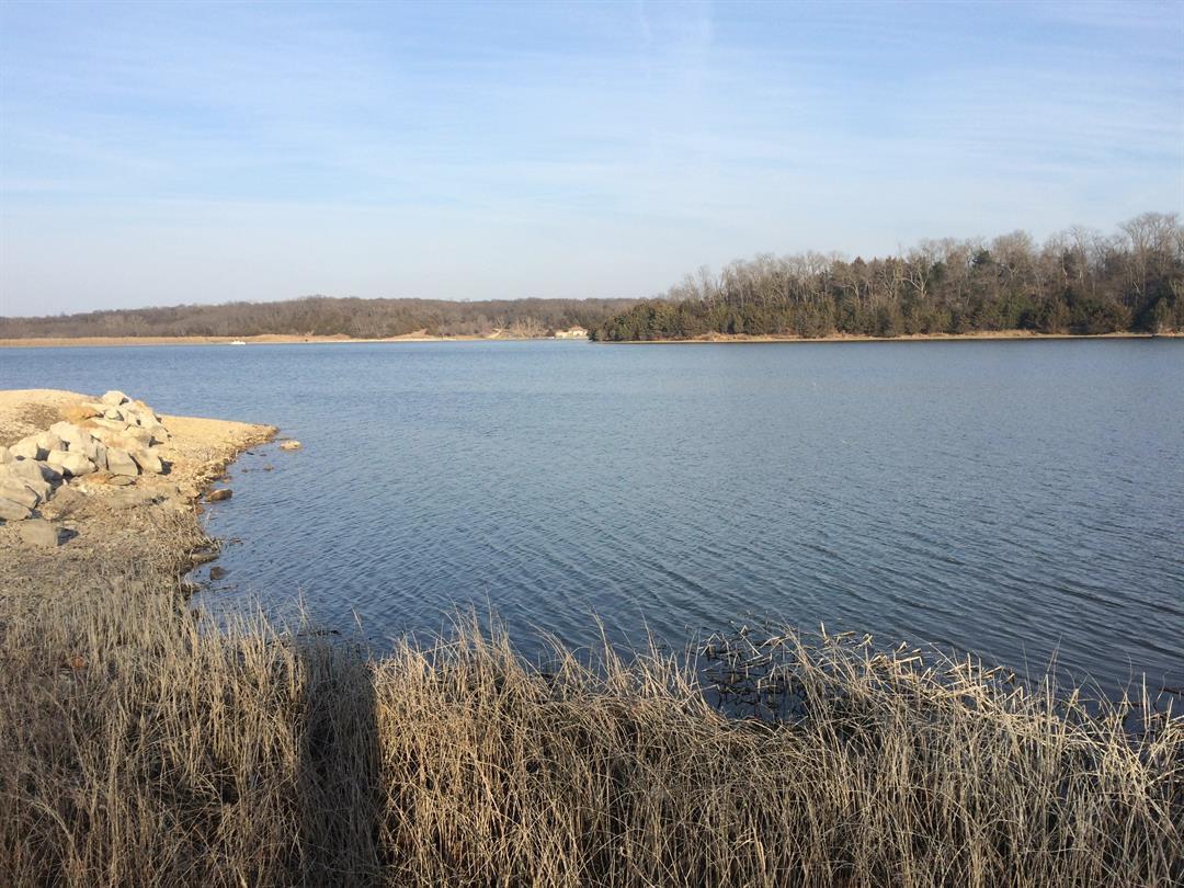 The Douglas County Fishing Lake on Sunday evening. (Nathan Vickers/KCTV)