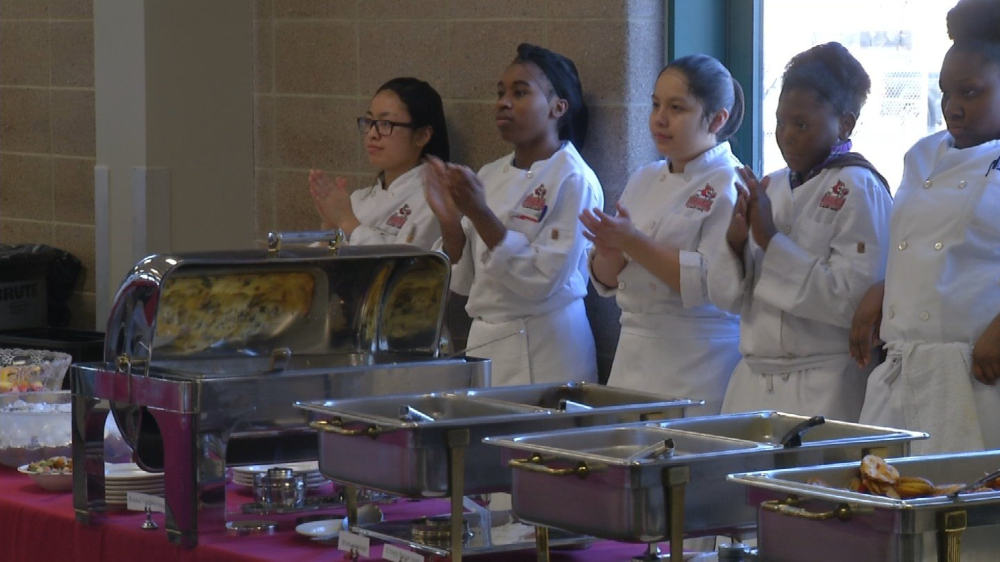 Almost 50 young culinary students who helped cater the mayor's event Wednesday walked away with summer jobs. (KCTV5)
