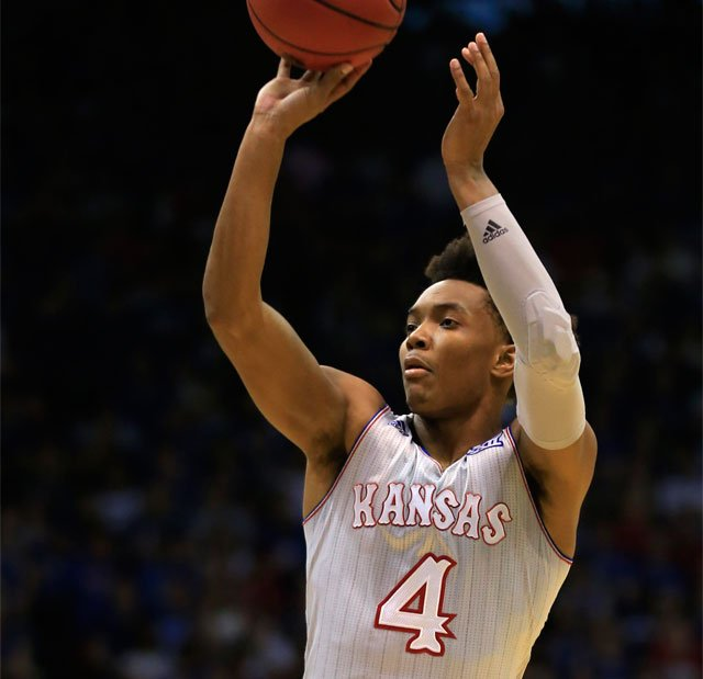 """Kansas junior guard Devonte' Graham has apologized for the """"inattention"""" that led to his arrest Wednesday night. (AP)"""