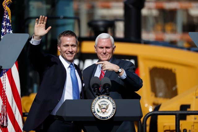 Greitens' senior adviser Austin Chambers says campaign funds were used to pay for a recent commercial airplane flight to Washington. (AP)