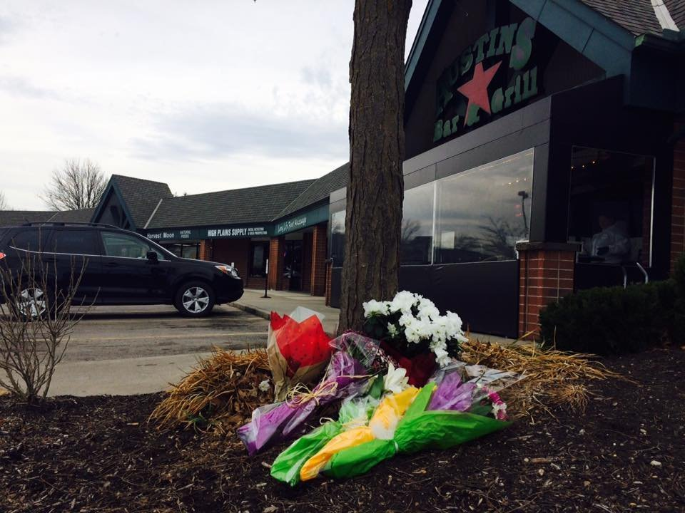 People in the community have been leaving tokens of love, grief and concern outside Austin's on Thursday.(KCTV5)