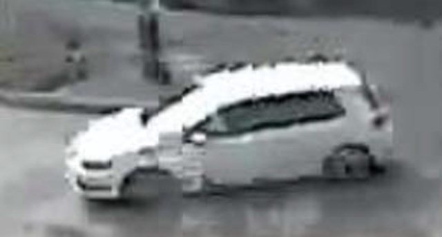 Surveillance footage of the car, which is believed to be a VW, Golf. (KCTV)