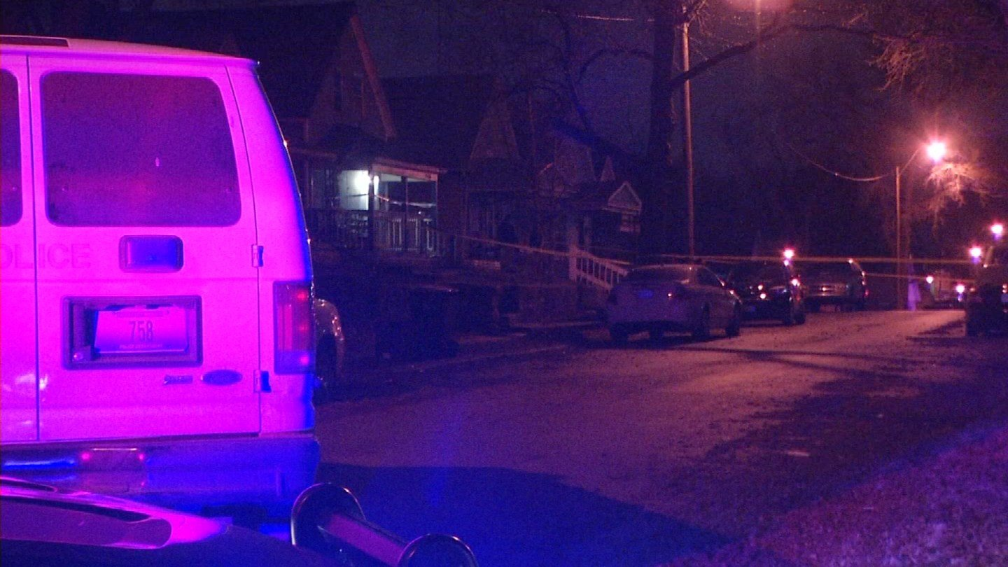 Two people were transported to the hospital following the shooting, which happened Friday just after 11:05 p.m. on the 2500 block of Bellefontaine. (KCTV5)