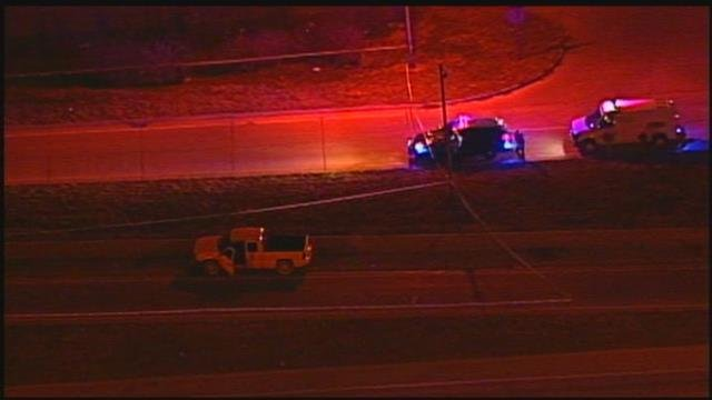 The shooting happened at 6:15 p.m. Tuesday on the northbound U.S. Highway 71 ramp to 39th Street. (Chopper5)