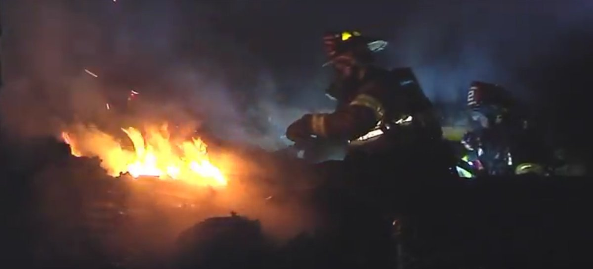 Firefighters say the fire was concentrated in the homes garage and attic. (KCTV5)