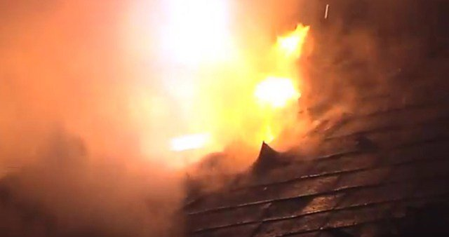 The fire started just after midnight at a home in the 8400 block of W 55th Street. (KCTV5)
