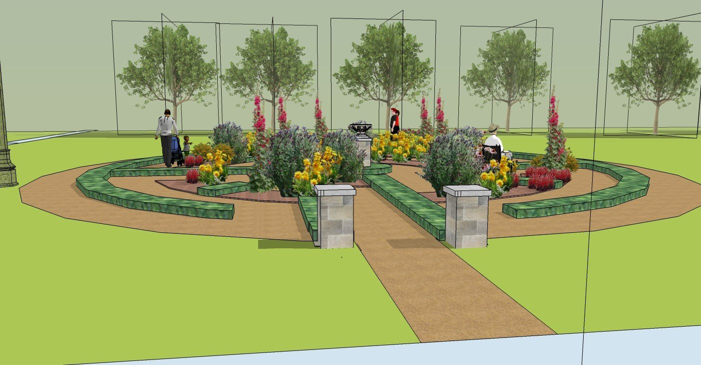 The Pilgrim Center's mission is to transform the area with flowers, plantsand butterflies to fill the labyrinth. It would make it a place for walking meditation, quiet contemplation and peace. (Pilgrim Center)