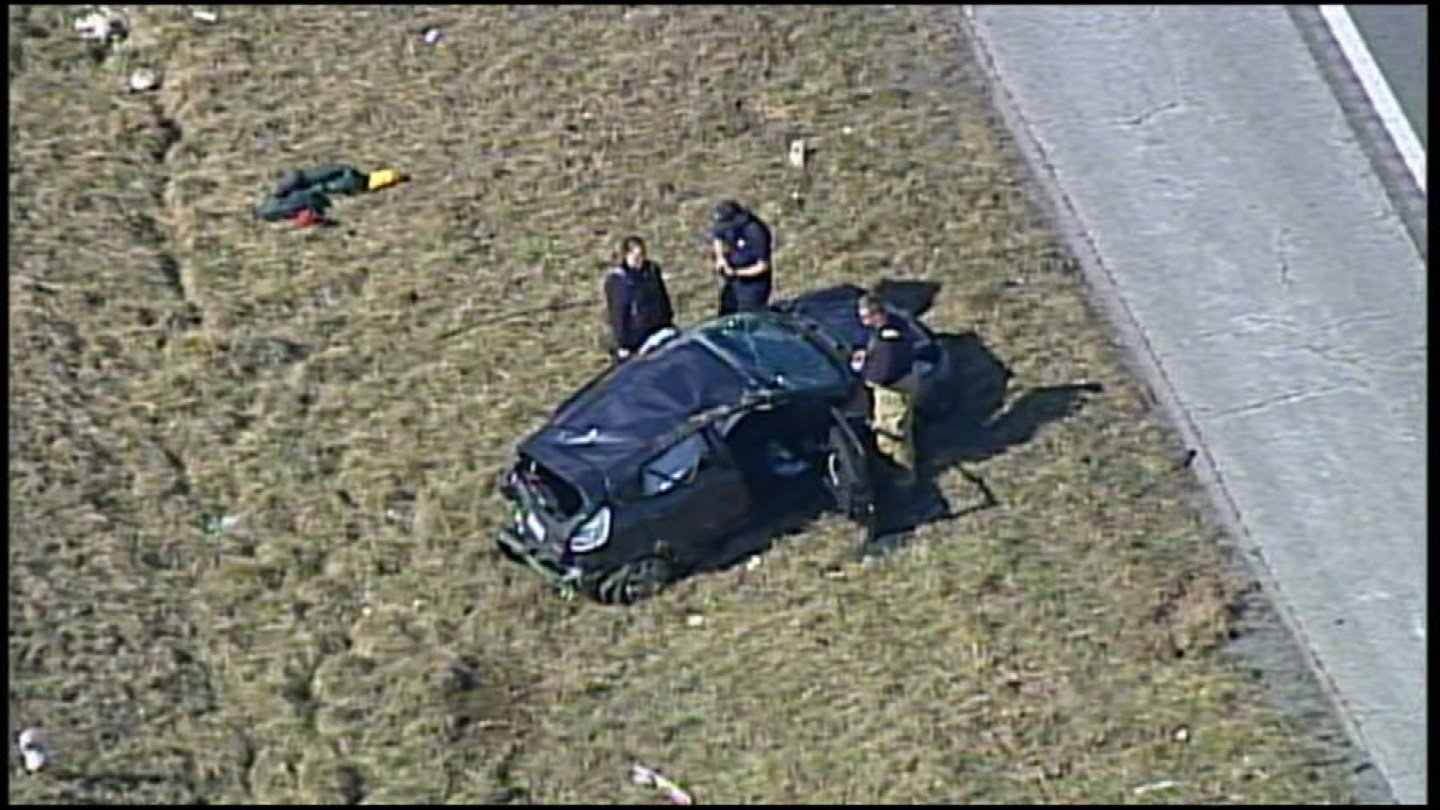 One person is dead and two children were injured following a crash north of Harrisonville, MO. (KCTV5)