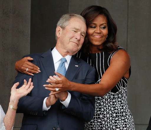 Former President George W. Bush and Michelle Obama are surprisingly close considering their political differences. (AP)