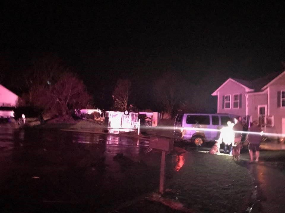 This home in Smithville was destroyed by a possible tornado. (Submitted)