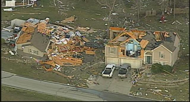 The most extensive damage came in the community of Oak Grove, MO. (KCTV5)