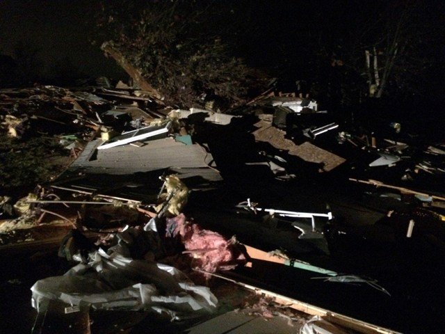 A home in the Smithville, MO area was ripped in half from top to bottom. (KCTV5)
